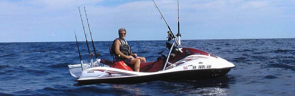 Jet ski fishing jetski fishing racks jet ski for Jet ski fishing accessories